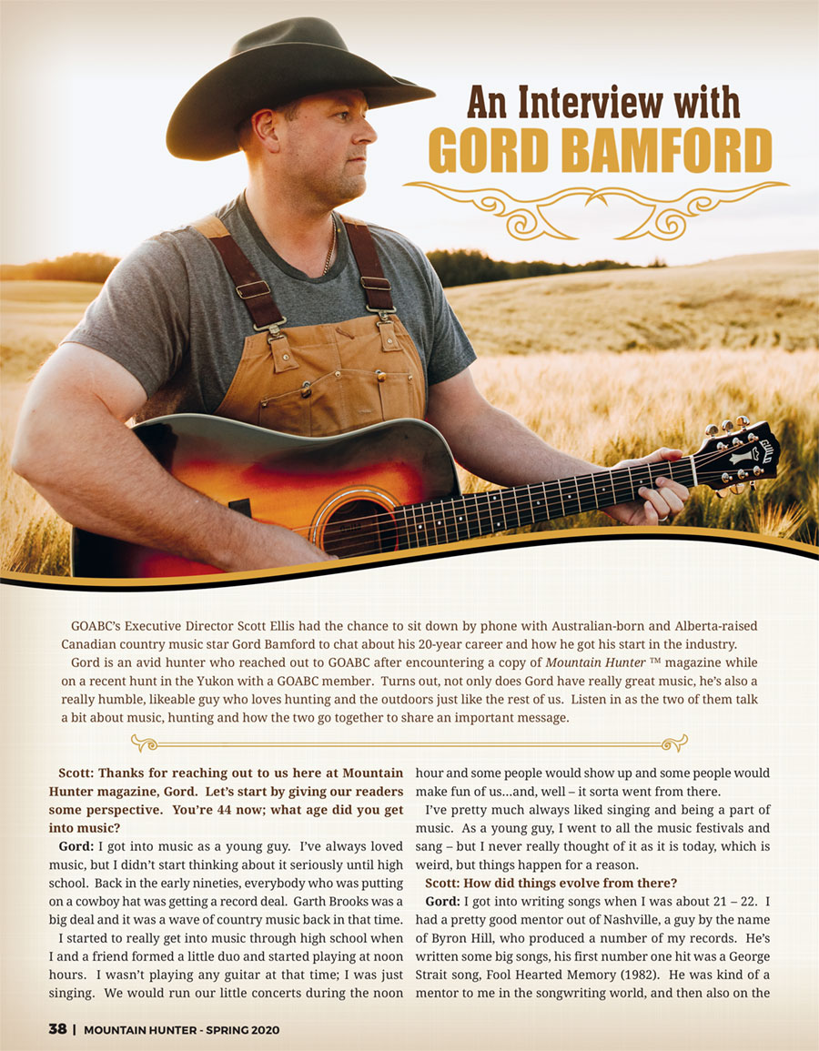 Gord Bamford Interview
