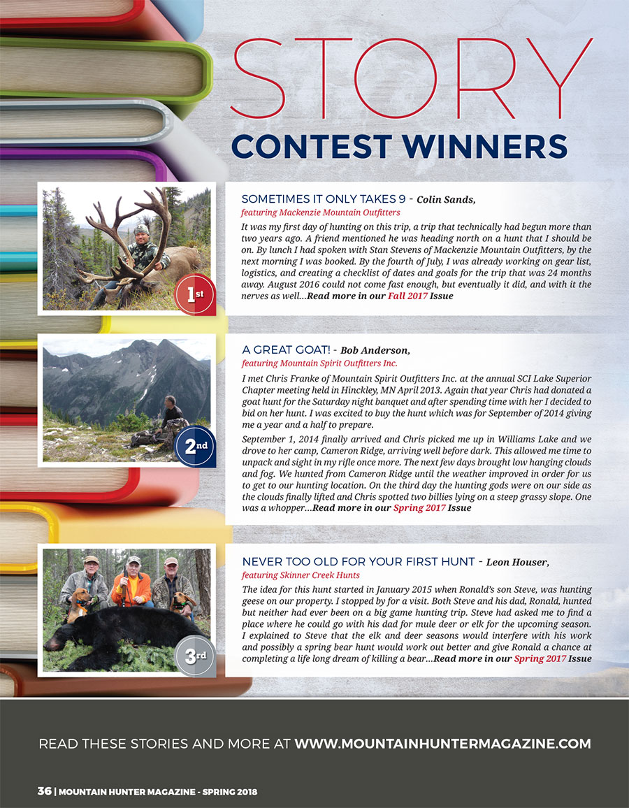 Mountain Hunter Story Contest