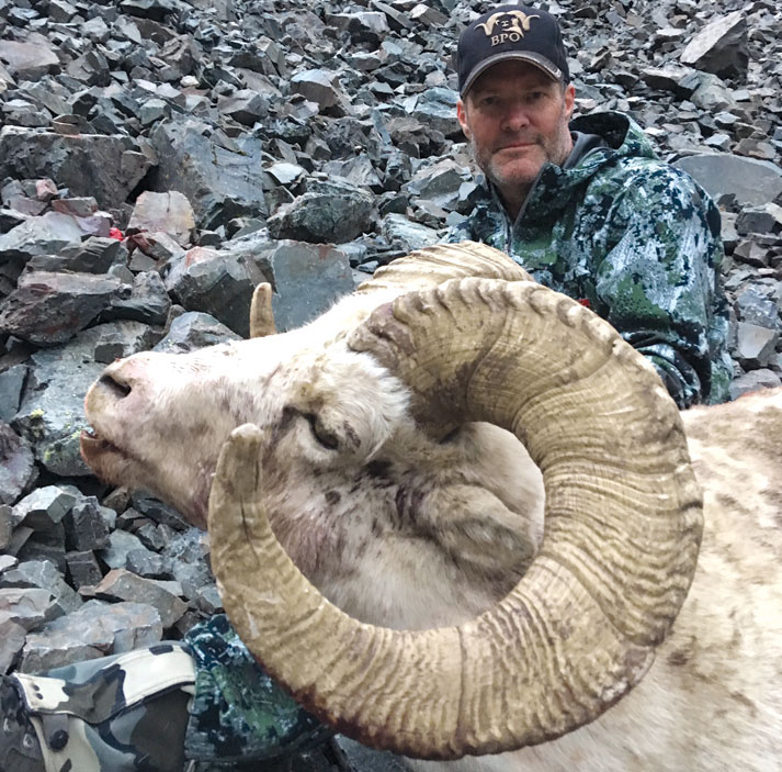 Big Horn Sheep with Bonnet Plume Outfitters