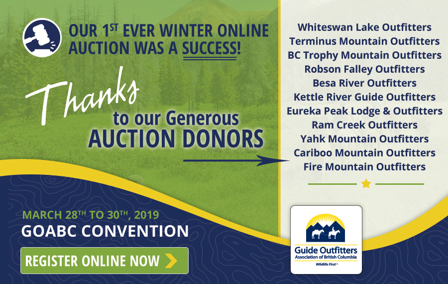 Thanks to Winter Online Auction donors
